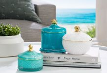 Morgan & Finch glass covered trinket dishes