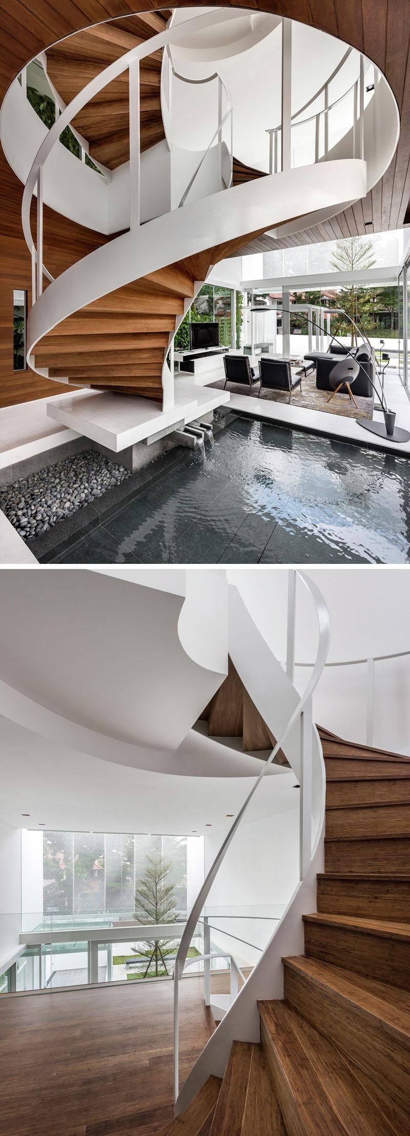 White metal handrail