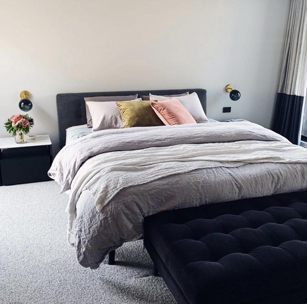 Aimee master bedroom styling