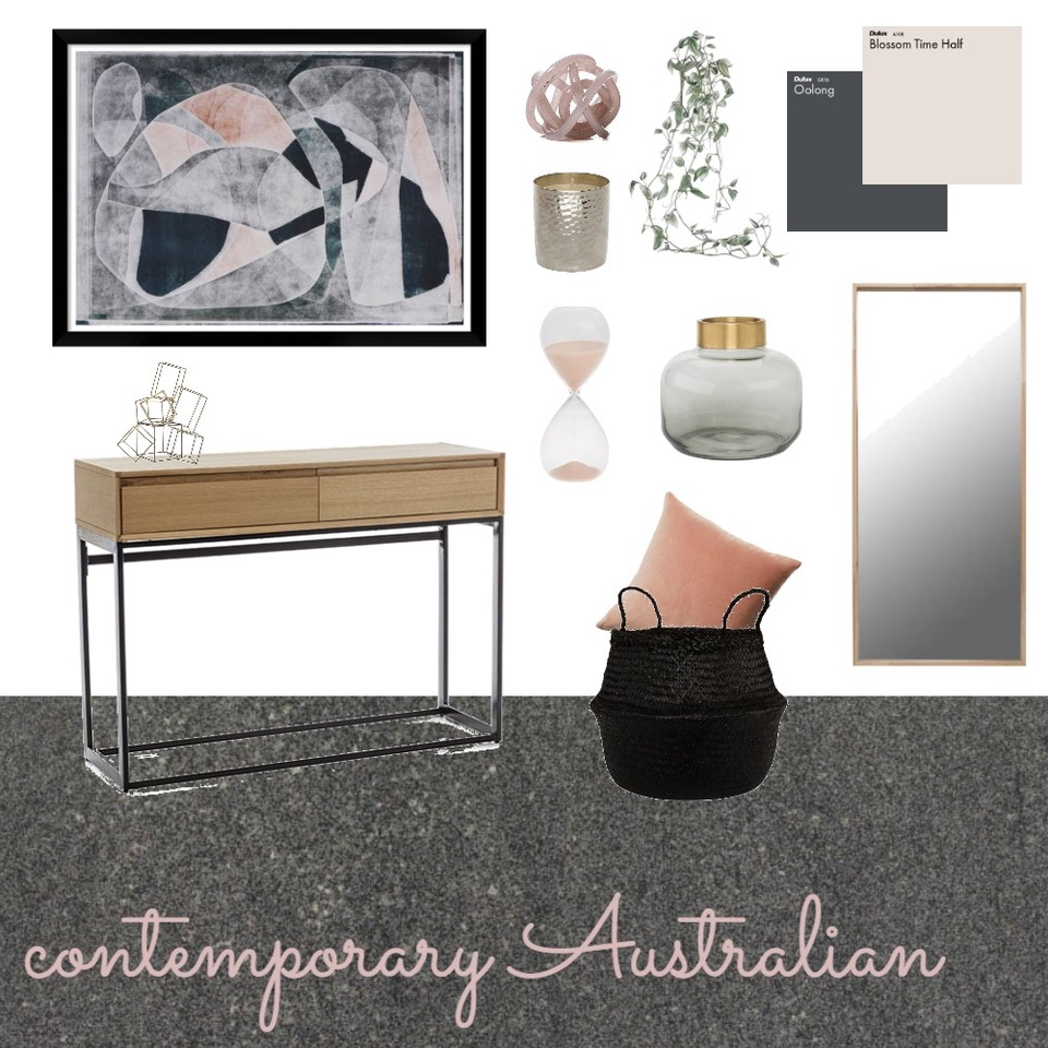 Contemporary Australian mood board