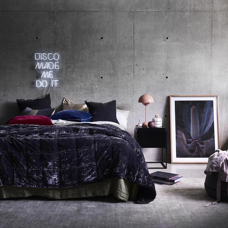 Deep violet bedding