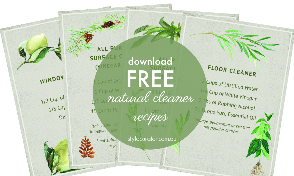 Download free natural cleaner recipes