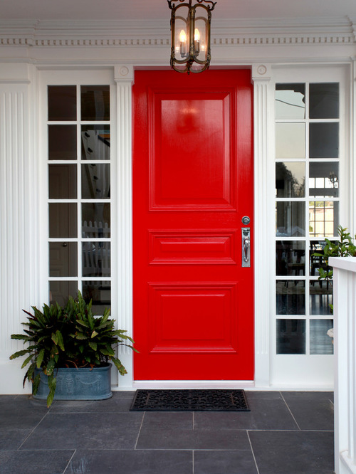 Bright Red Front Door Style Curator