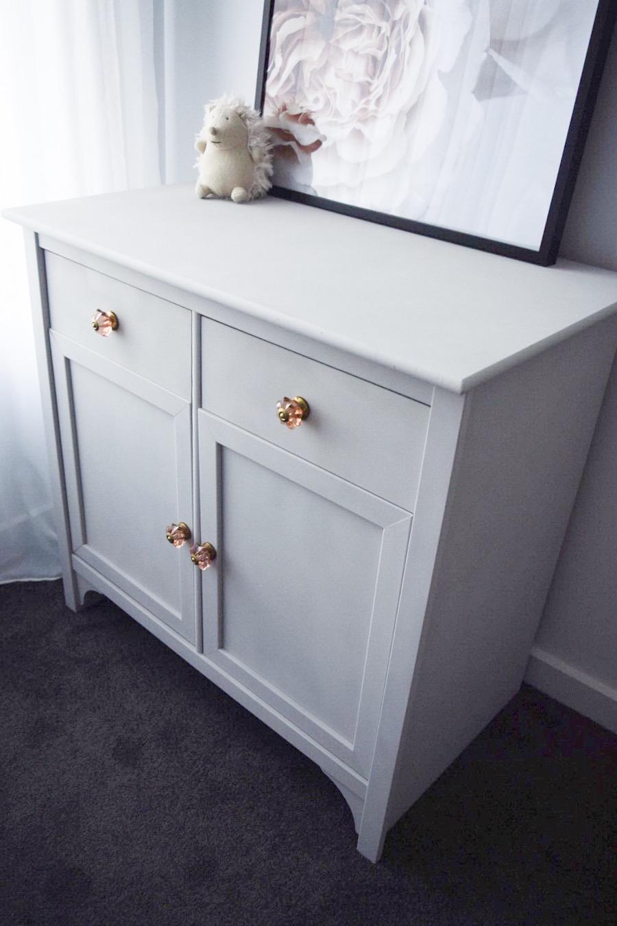 Close up of dresser