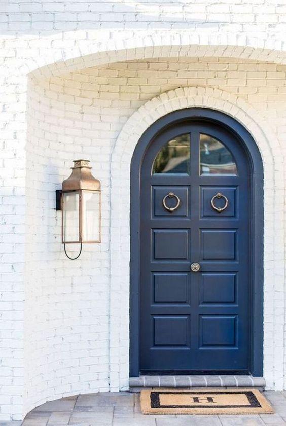 Dark Blue Front Door Style Curator