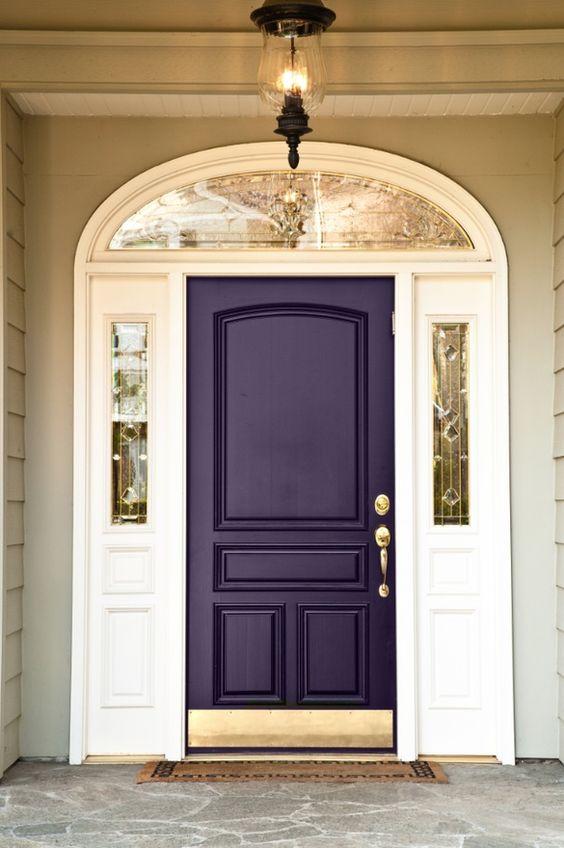 Dark purple front door
