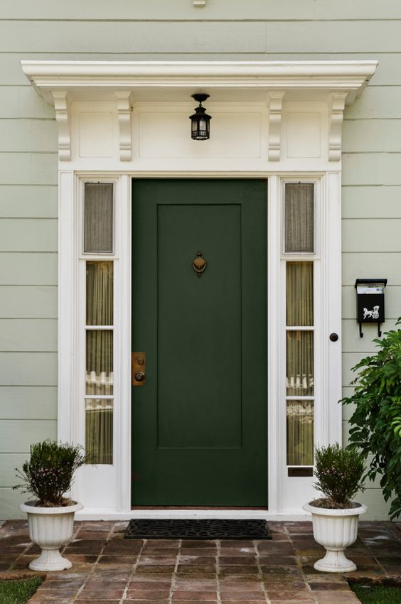 Forest green fabulous front doors