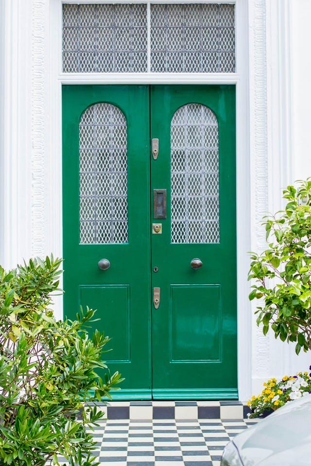 Emerald green fabulous front doors