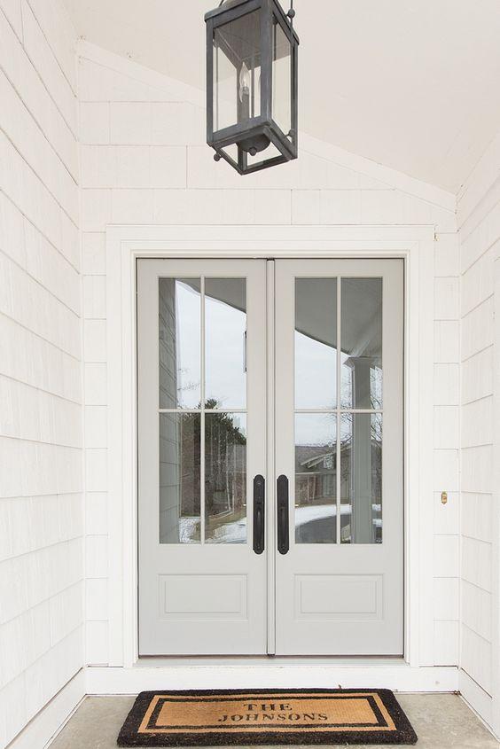 Light grey fabulous front doors