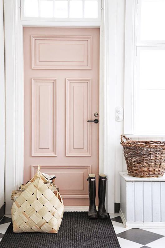 Light pink fabulous front doors