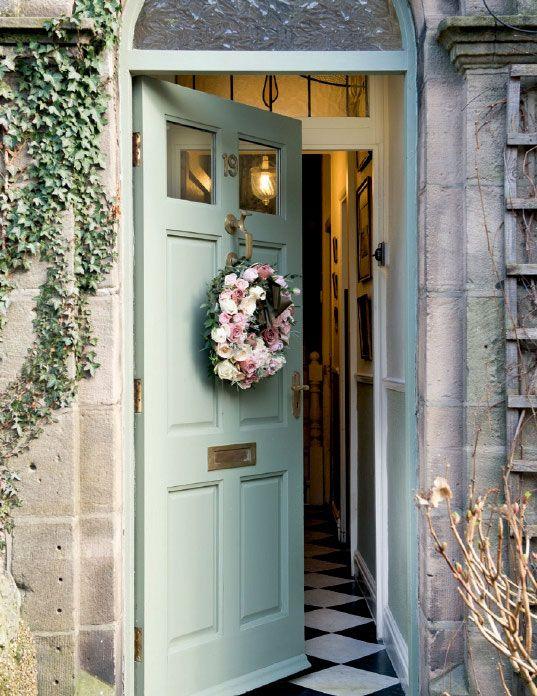Sage green fabulous front doors