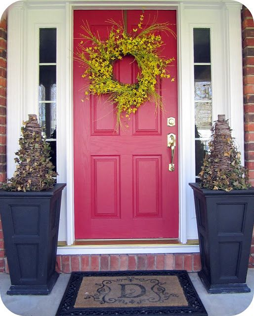 Red Front Door: 25 Fabulous Front Doors: Get Inspired To Create A