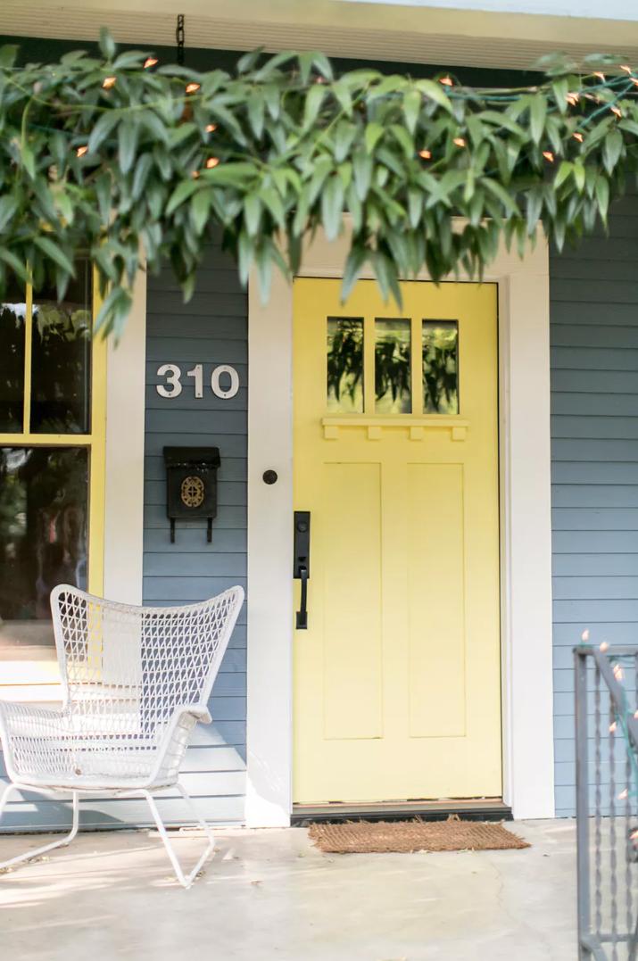 Style me pretty yellow door