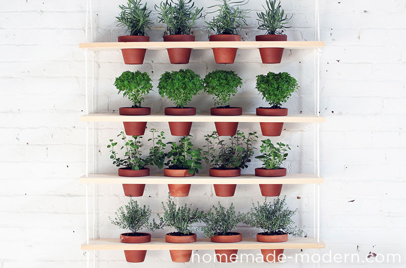 Full hanging vertical garden