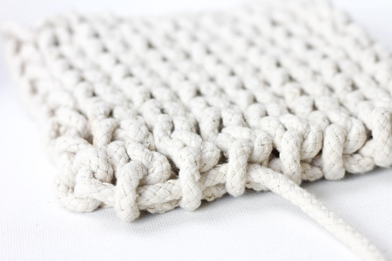 Close up of rope trivet