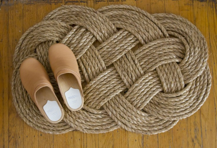 DIY rope door mat