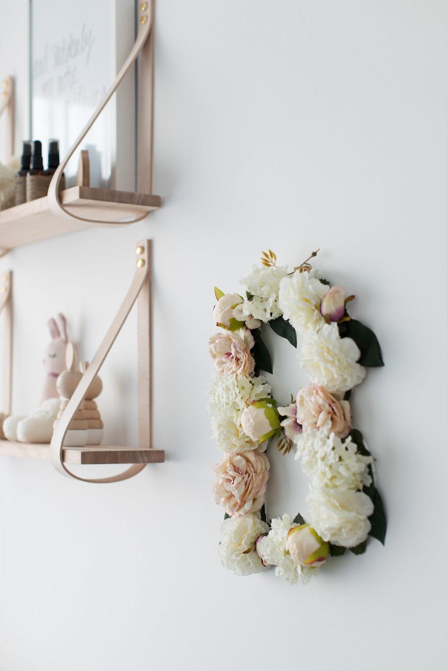 Completed floral monogram