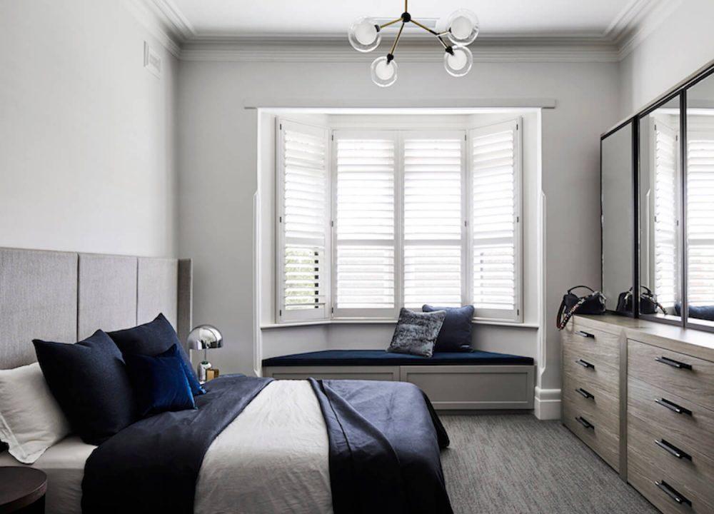 Feature light in bedroom