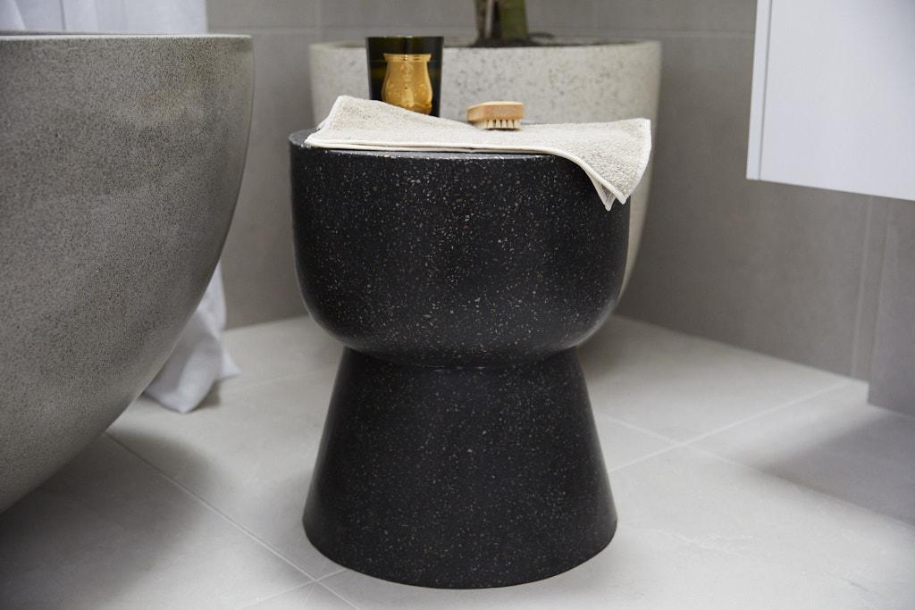 Black egg stool