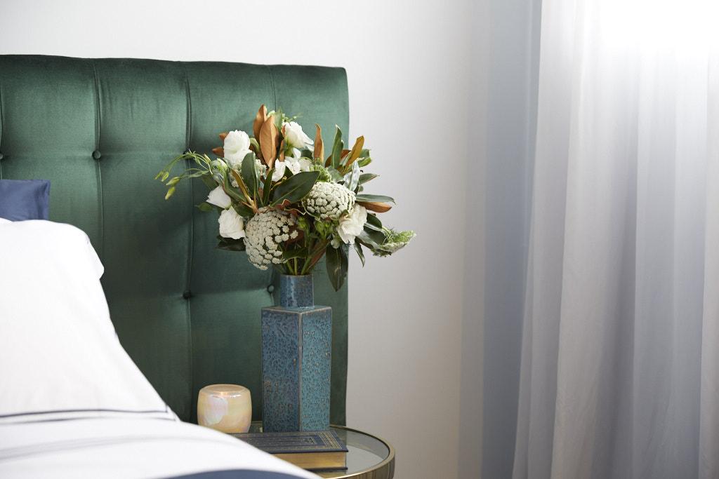 Green velvet bedhead