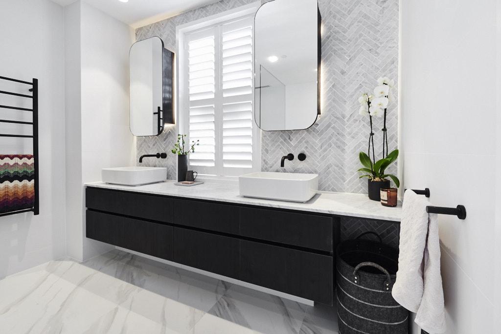 Large black vanity