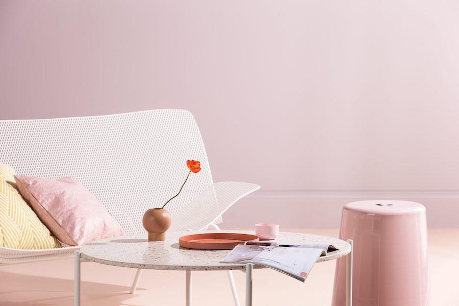Sorbet pink paint colour