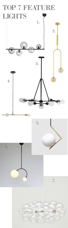 Top 7 Glass ball feature lights