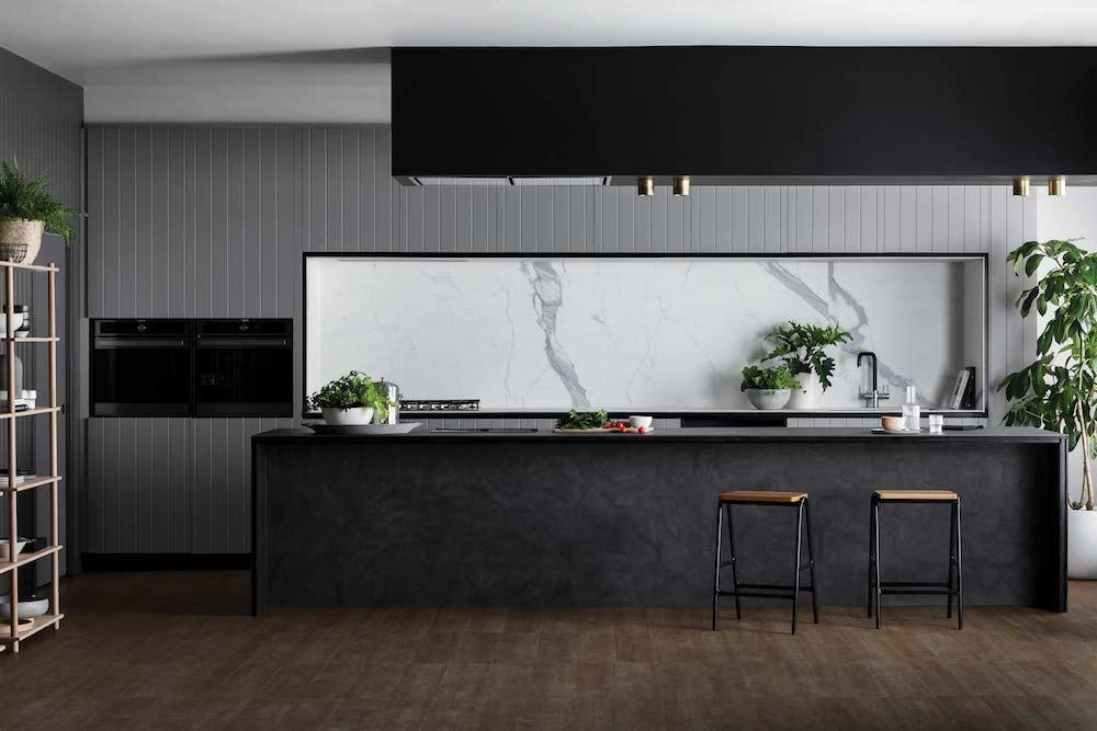 Warm grey kitchen
