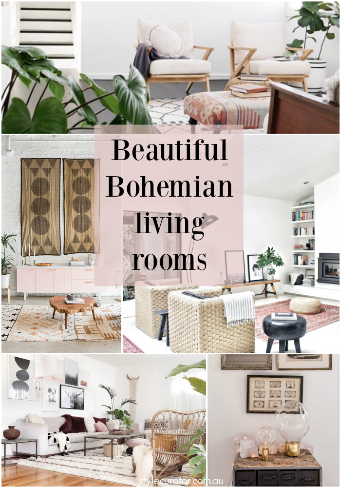 Beautiful Bohemian living rooms