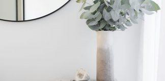 DIY dip dye felt vase
