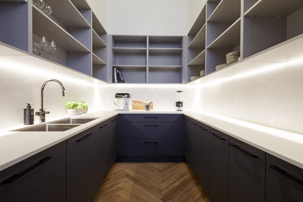 Luxurious butler's pantry
