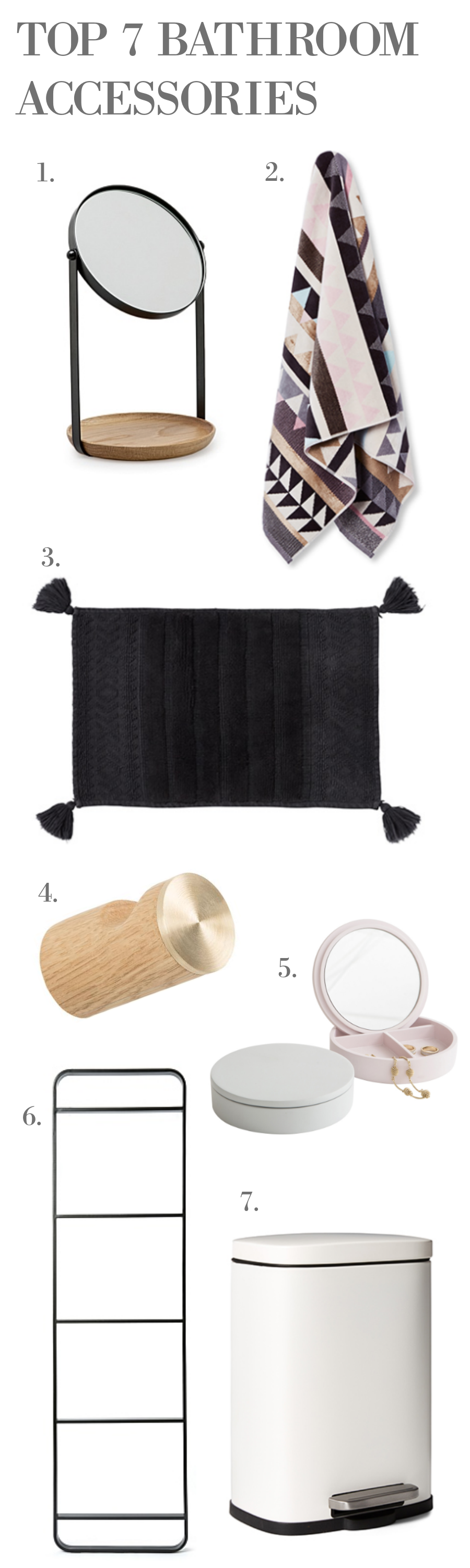 TOP 7 stylish bathroom accessories