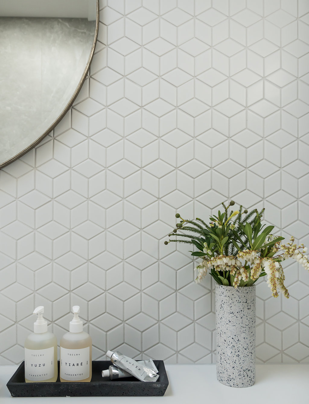 Geometric tile detail
