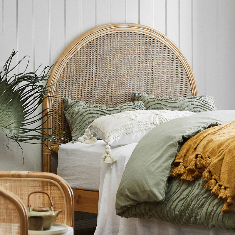 Temple and Webster rattan bedhead