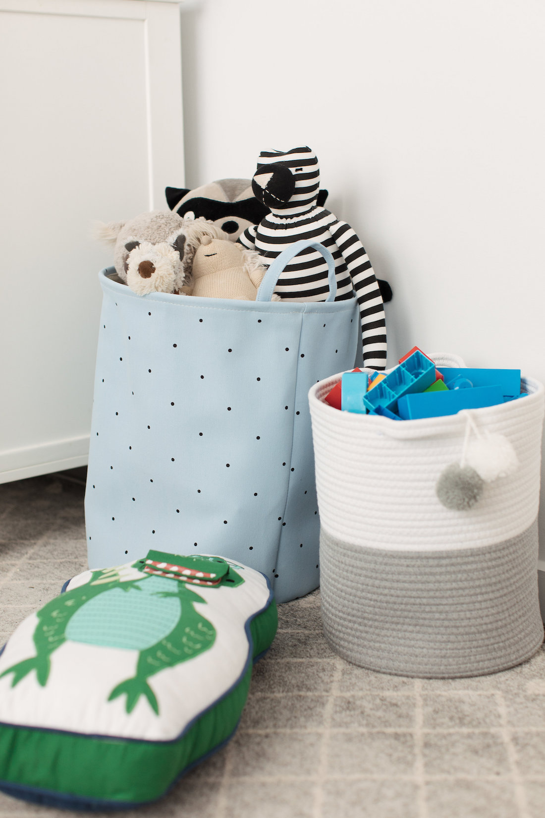 Basket storage stylish and functional kids bedroom