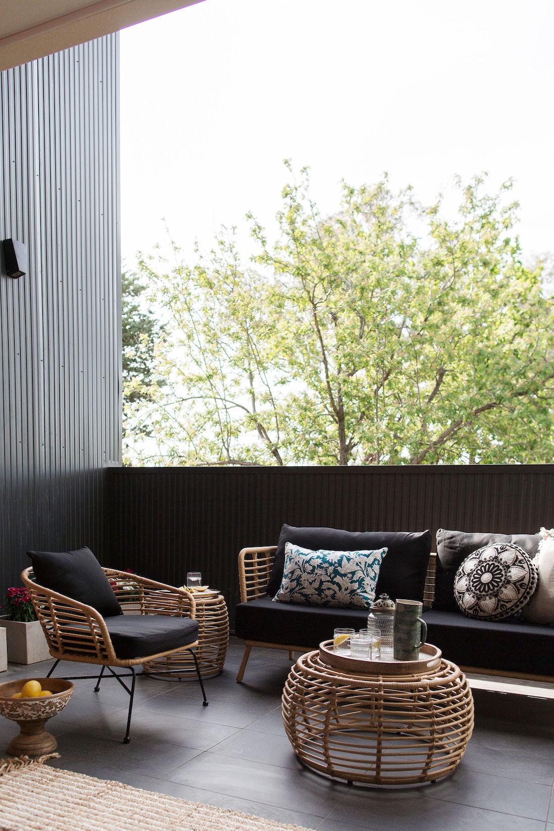 Open outdoor terrace