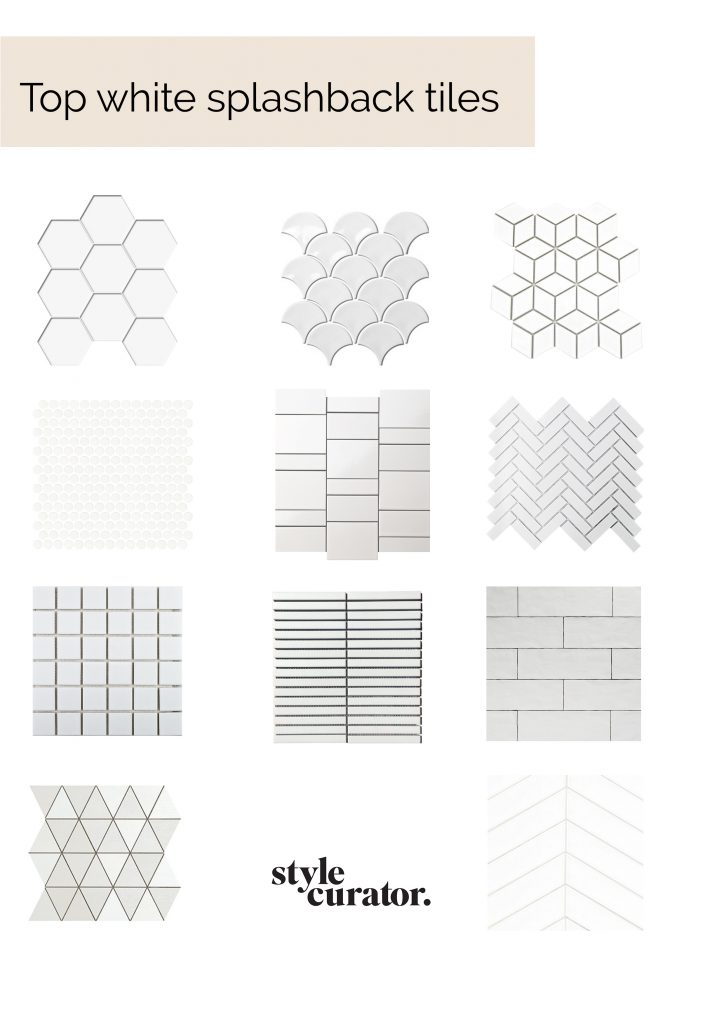 White splashback tiles