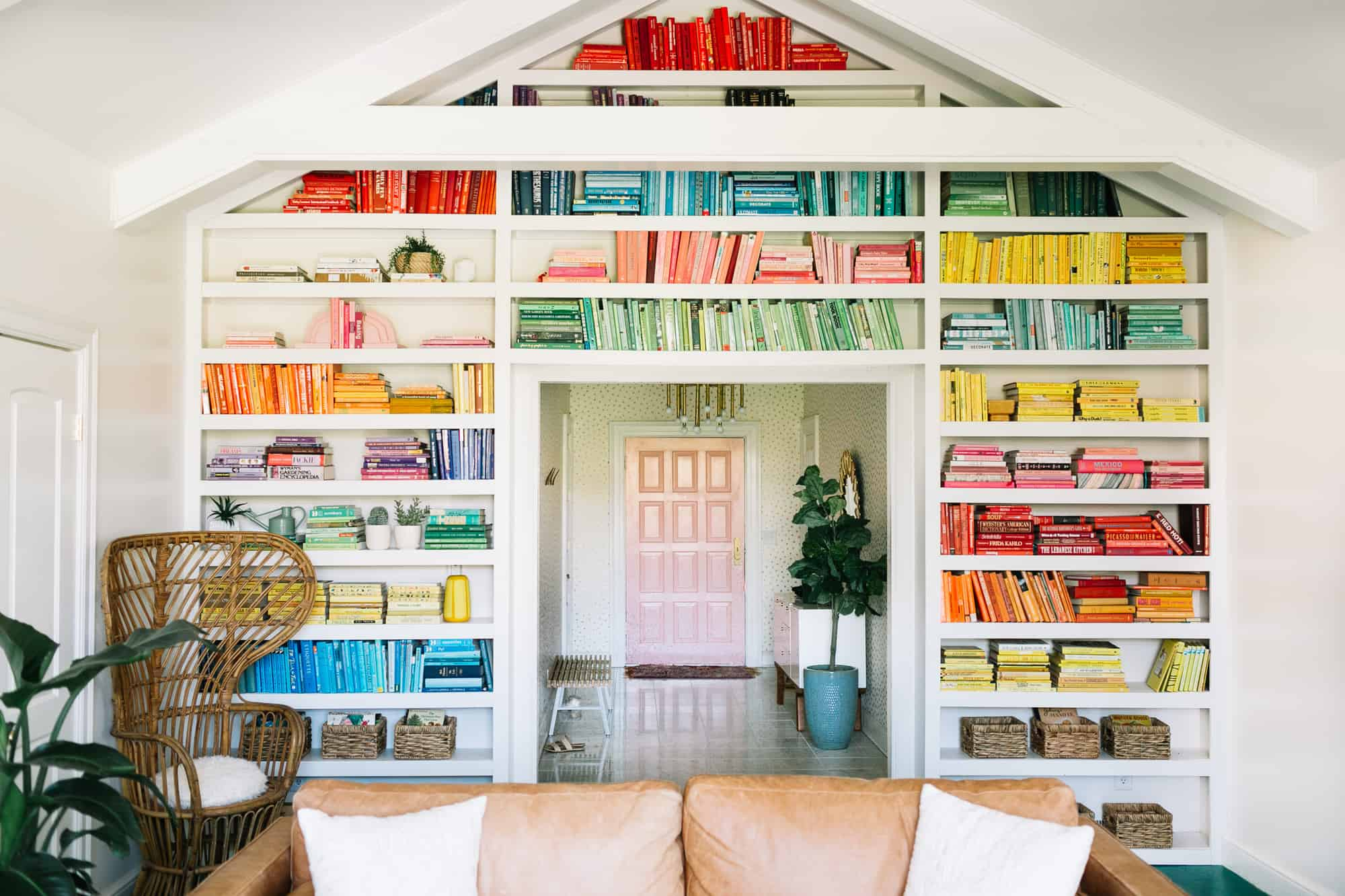 Colour coordinated home library