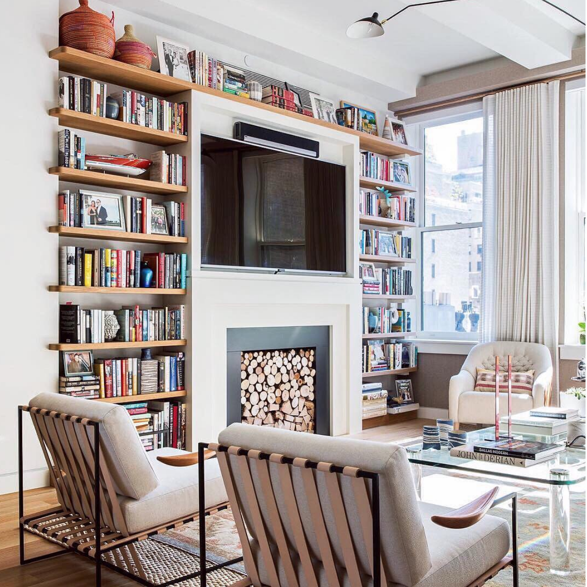 Fireplace library