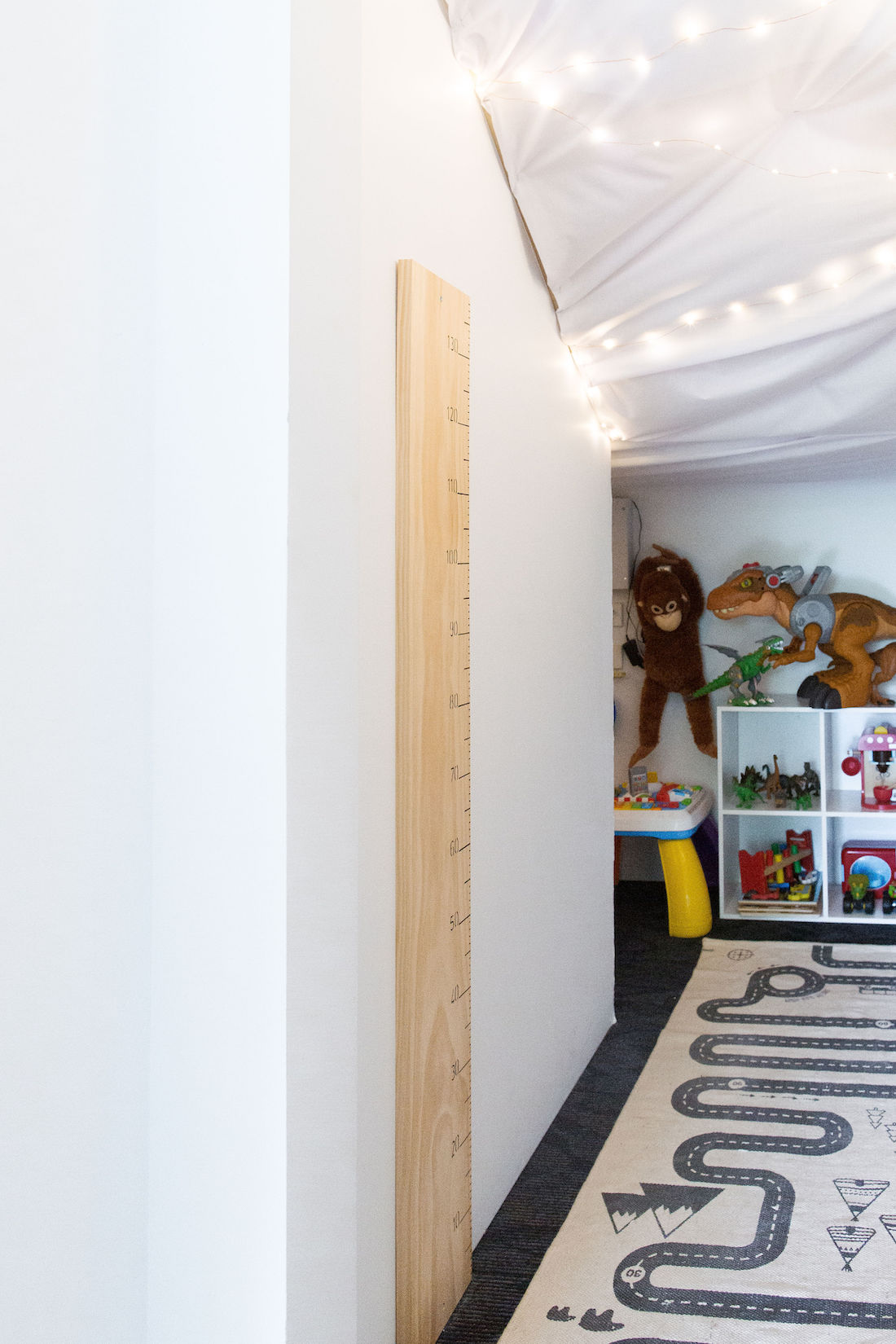 DIY minimalist growth chart