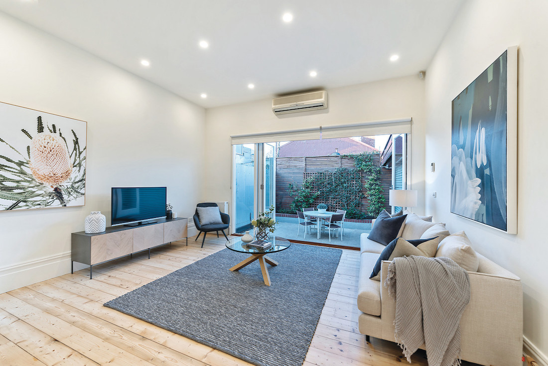 Living room after property stylist is worth the cost