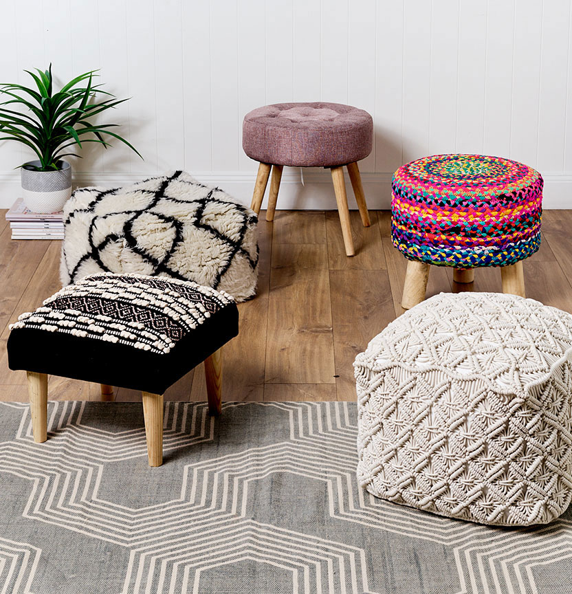 Ottomans how to style your lounge room