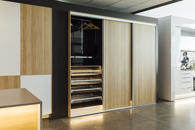 Hafele timber wardrobe