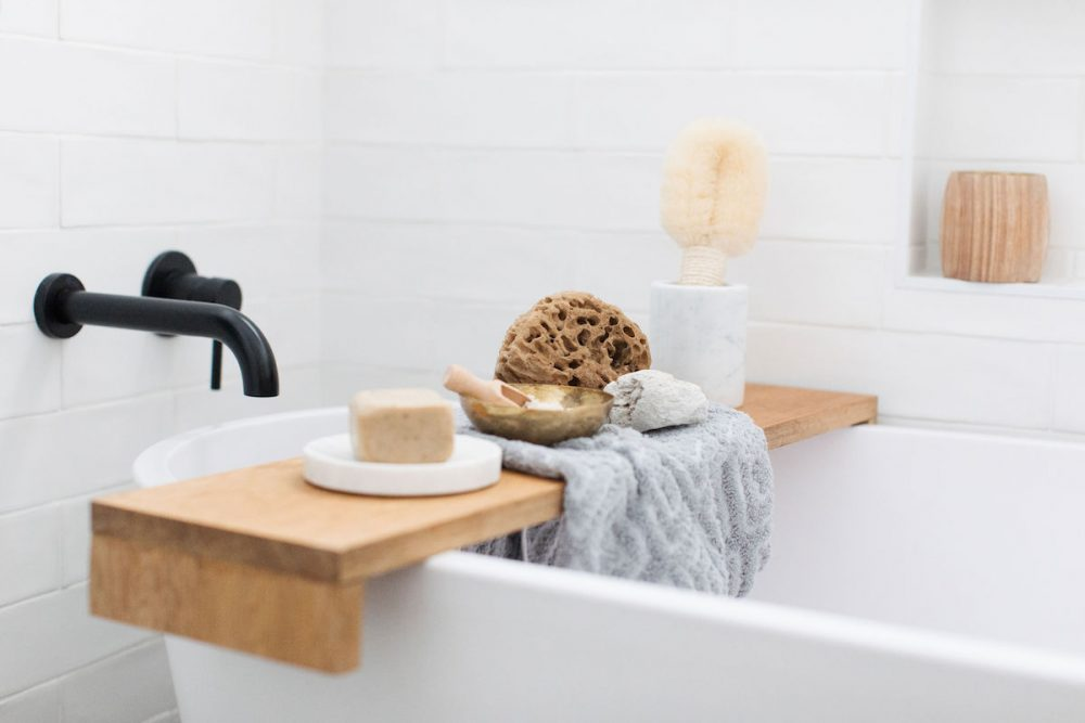 Style a bath tray How to decorate your bathroom