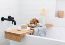 Style a bath tray