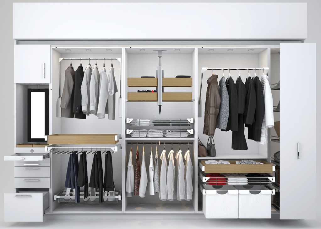 White wardrobe design