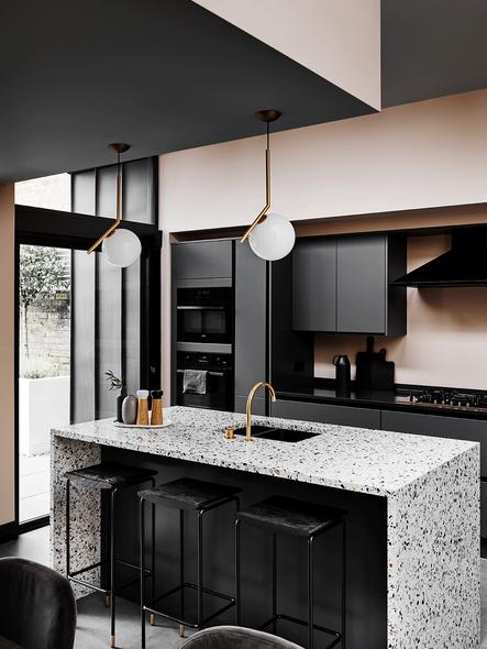 Terrazzo kitchen island