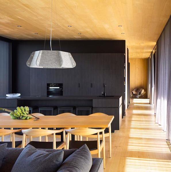 Black timber veneer kitchen
