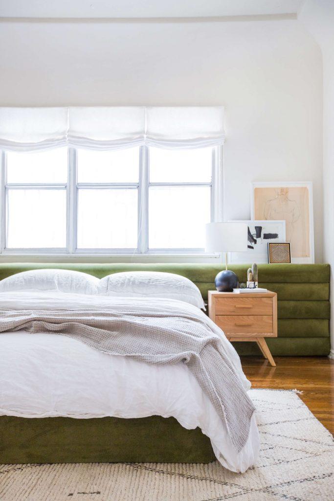 Green bedhead DIY bedhead ideas