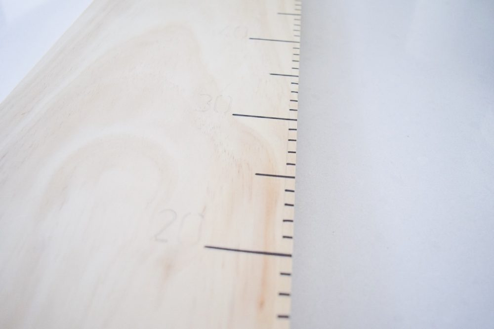 Markings on growth chart